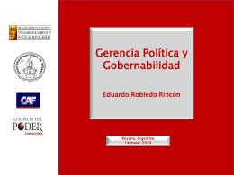 Powerpoint de Eduardo Robledo - Posgrado en comunicación política