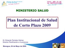 Plan Institucional: Sistemas de Salud