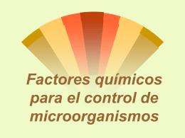 Factores químicos para el control de microorganismos