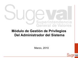 Presentación Administradores del Sistema