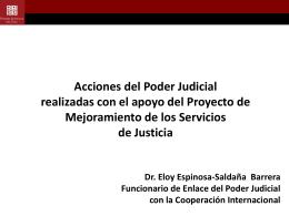 Presentación Poder Judicial - Proyecto de Mejoramiento de los