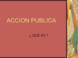 ACCION PUBLICA - Federación Internacional de Fe y Alegría