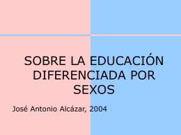 La educación diferenciada por sexos