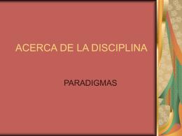 ACERCA DE LA DISCIPLINA
