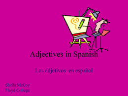 Adjectives in Spanish - Georgia Highlands College
