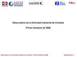 I TRIM 2006 - UIC Unión Industrial de Córdoba