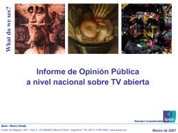 Informe de Opinión Pública a nivel nacional