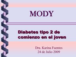 MODY Diabetes tipo 2 de comienzo en el joven