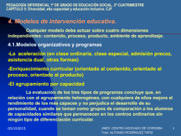 Diversidad, alta capacidad y educación inclusiva. CJF