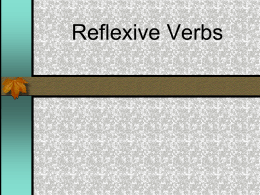 Reflexive Verbs Powerpoint