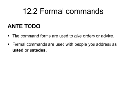 12.2 Formal commands