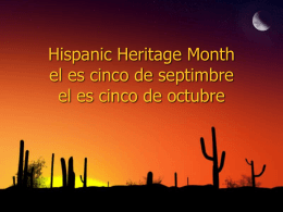 Hispanic Heritage Month el es cinco de septimbre el es cinco de