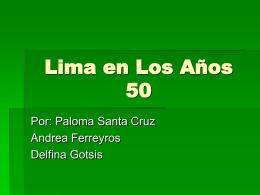 Lima en los años cincuenta