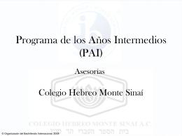 Programa de los Años Intermedios (PAI)