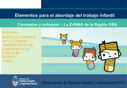 Niños y niñas de 5 a 13 años según condición laboral