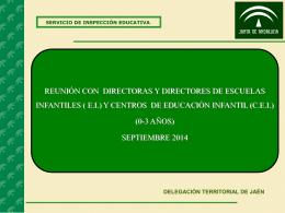 Presentación Inspección / Escuelas Infantiles 0-3