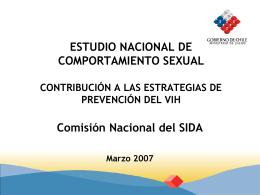 Estudio nacional de comportamiento sexual. Contribución a