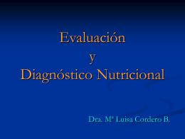 Evaluación y Diagnóstico Nutricional