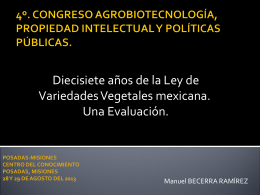 17 años de la ley de Variedades Vegetales mexicana. Una evaluación