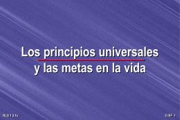 Principios Universales y metas en la vida [77-d]