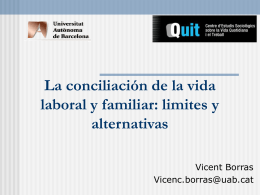 Les polítiques de conciliació de la vida laboral i