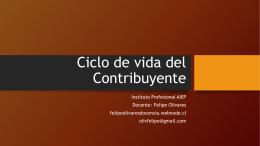 Ciclo de vida del Contribuyente - Felipe Olivares Docencia