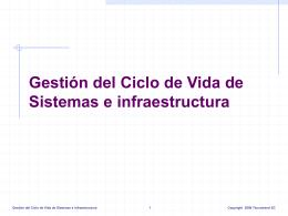 Gestión del Ciclo de Vida de Sistemas e infraestructura