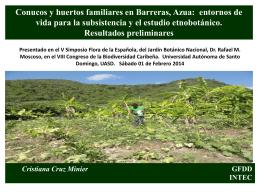 conucos y huertos familiares en barreras, azua: entornos de vida