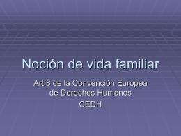 Noción de vida familiar - María Silvia Villaverde