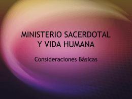 MINISTERIO Y VIDA HUMANA
