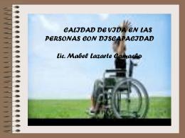 Calidad de Vida - Lic. Mabel Lazarte