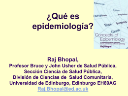 What is Epidemiology? In Spanish