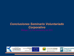 Seminario de Voluntariado Corporativo