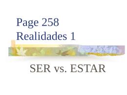 p. 258 SER vs. ESTAR