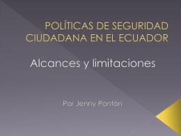 POLÍTICAS DE SEGURIDAD CIUDADANA EN EL ECUADOR