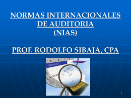 normas int auditoria a