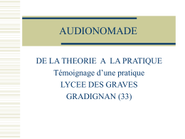 AUDIONOMADE - Espace Educatif