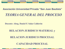 INTRODUCCIÓN AL DERECHO PROCESAL: