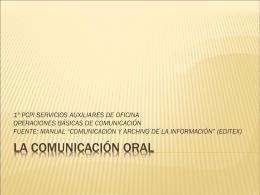 Normas de comunicación generales