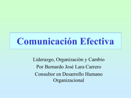 Presentaciones - Comunicacion efectiva 2.pps