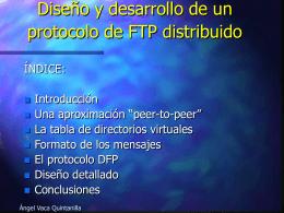 Diseño y desarrollo de un protocolo de FTP distribuido