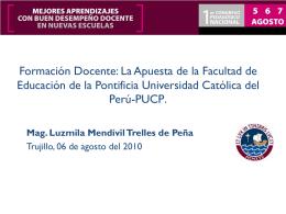 Luzmila Mendívil - Consejo Nacional de Educación