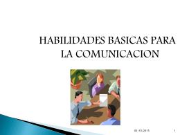 HABILIDADES PARA LA COMUNICACION