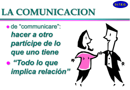 COMUNICACIÓN - Master en Psicoterapia