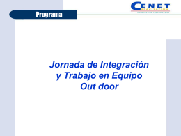 Programa Out door - Cenet Capacitacion