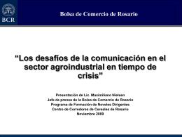 Presentación - Centro de Corredores de Cereales de Rosario