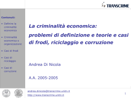 Definire la criminalità economica