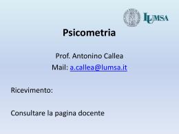 Psicometria A. A. 2010/2011