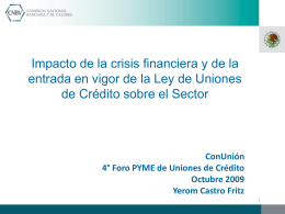 Evolución del Sector - Comisión Nacional Bancaria y de Valores