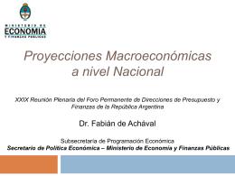 Fabián de Achával - Ministerio de Economía
